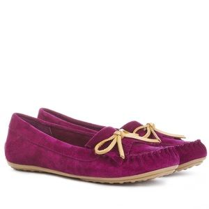 Sole Society Sarah Purple Suede Moccasins 7